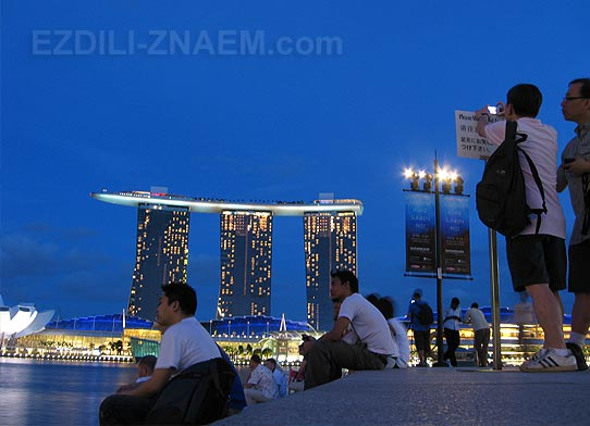 Вечер в Сингапуре. Marina Bay