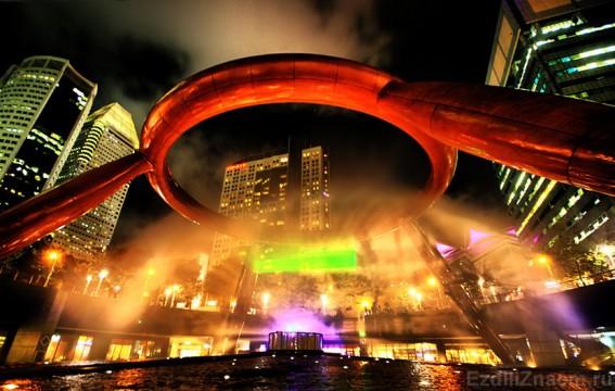 Фонтан богатства в Сингапуре - самый большой фонтан в мире
