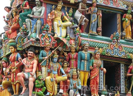 Индийский храм в Сингапуре
