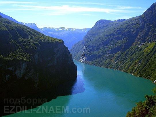 Гейрангер Фьорд в Норвегии